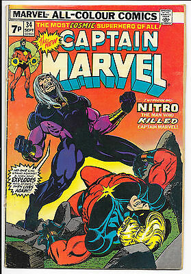 Marvel Comics The New Captain Marvel Vol 1 #34 Sept 1974