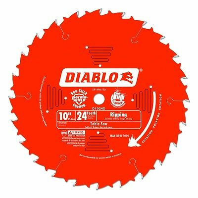 "FREUD D1024X 10"" 24T Diablo Ripping Blade For Table Saws, 5/8"" Arbor"