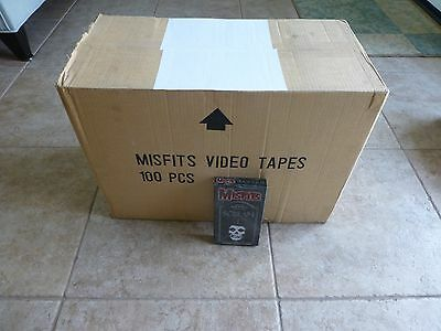 "Misfits Limited Edition ""Scream"" Video VHS Factory Sealed Case of 100 Tapes RARE"