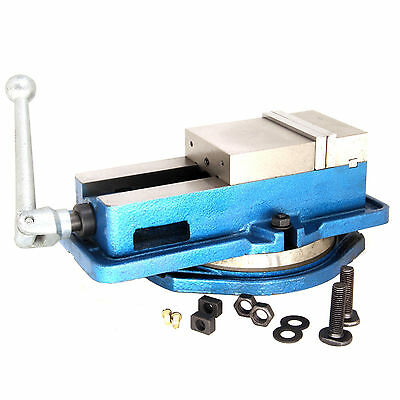 "Hfs 3"" Milling Machine Lockdown Vise Swivel Hardened New With Base"