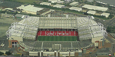 MANCHESTER UNITED. OLD TRAFFORD AERIAL VIEW PHOTO PRINT. 2010. 8x10.