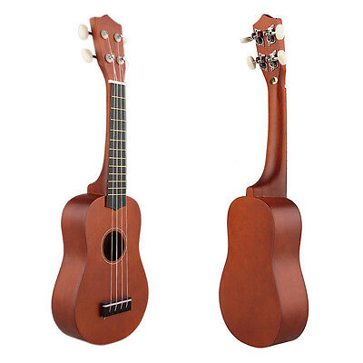 21'' Ukulele Uke Instrument Soprano Hawaiian Style Guitar Gift Beginners Coffee