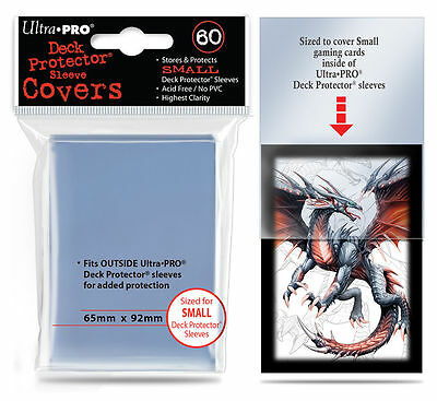 60 Ultra Pro Small Mini Over Cover Deck Protector Fit Sleeve Clear Outer 84355
