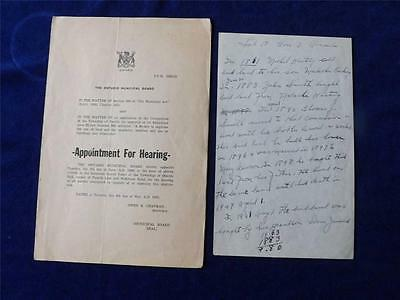 Appointment For Hearing Ontario Municipal Board Township Of Oneida 1955 Canada