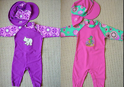 Toddler Baby Girls Rash Swim Suit Swimwear UPF50+ Long Sleeves Leg Rashie 00 - 3