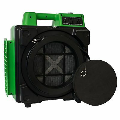 XPOWER X-2480A Pro 3 Stage Filtration HEPA Purifier Mini Air Scrubber - Green