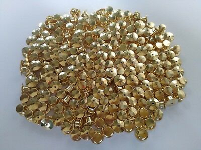 200pcs Gold Low Profile lock Pin Keepers Back No Tools Required Jewellery Police