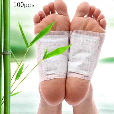100Pcs Kinoki In Box Detox Foot Pads Patches With Adhesive Fit Health Care
