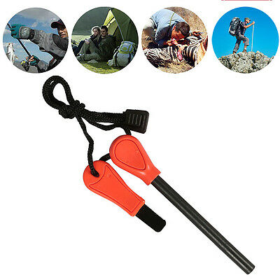 Camping Survival Magnesium Flint And Steel Striker Fire Starter Lighter Stick AU