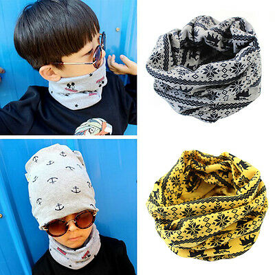 Baby Kids Winter Warm Girls Boys Stars Collar Scarf Children Ring Neck Scarves