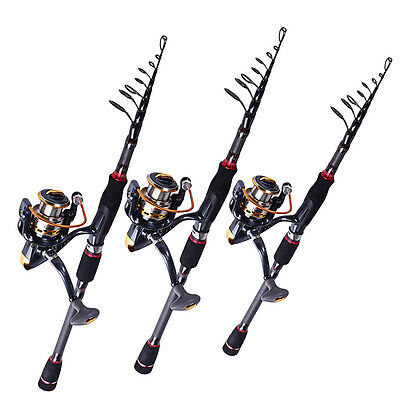 Spinning Telescopic Fishing Rod and Reel Combos Set Lure Casting Fishing (1set)