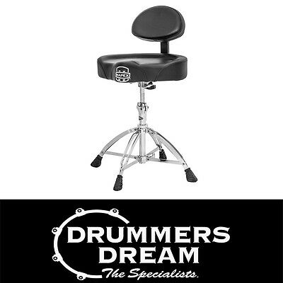 MAPEX T775 DRUM STOOL / THRONE W/ BACK REST * BRAND NEW !!*  Motorcycle style