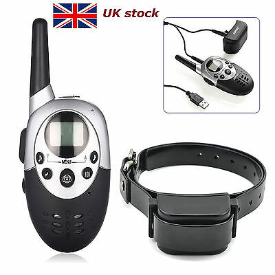 1000 Yard Electric Trainer E-Collar Remote Pet Safe Dog Shock Training Collar