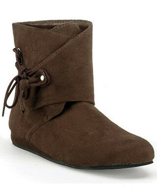 Short Brown Medieval Mens Boots