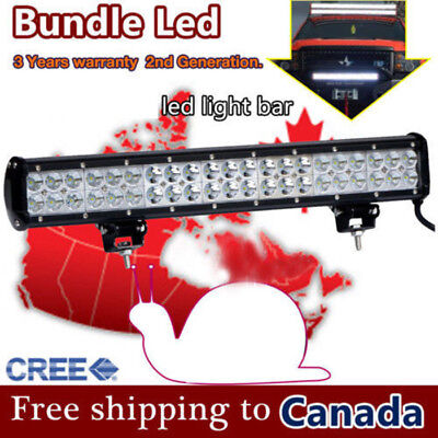 18inch CREE LED Light Bar Work Off road Truck Boat Jeep Ford SUV ATV UTE 4WD 4x4