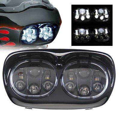 LED Headlight Projector Daymaker Lamp For Harley Road Glide 2003-2013 2012 2011