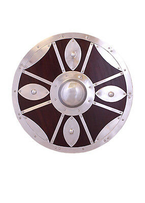 Wooden round shield with steel fittings vikingshield roundshield Reenactment
