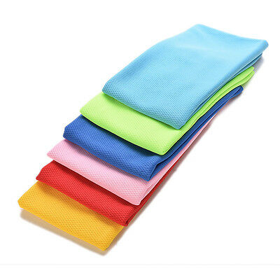 2015 New Ice Cold Cool Sport Towel Scarf Reuseable Cycling Jogging Golf FG