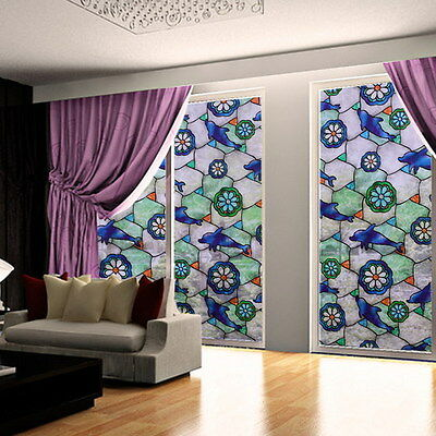 Static Cling Frosted Stained Window Film Glass Cover Privacy Home Decor 45*100cm