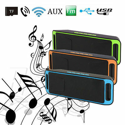 Portable Wireless Mini Bluetooth Stereo Speaker Boombox TF USB for Phone Tablet