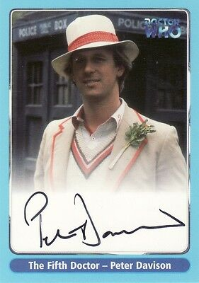 Doctor Who Series One Peter Davison as The Fifth Doctor A2 Auto Card