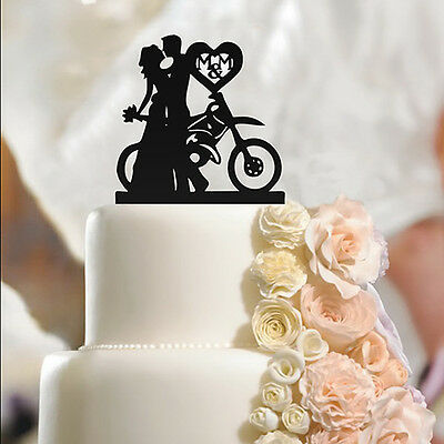 Fiance & Fiancee with Bike - Engagement Cake Toppers - high quality acrylic