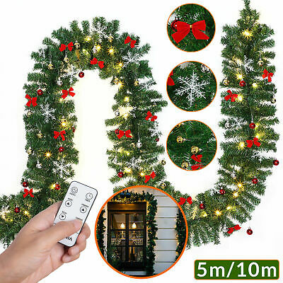 Deuba® Girlande LED Lichterkette 5m Weihnachten Deko Indoor Outdoor Weihnacht