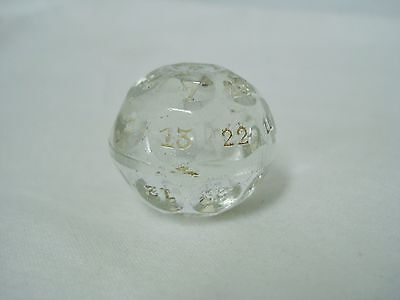 "Czechoslovakia Glass Ball with Numbers Magic Fortune Telling 1 1/8"" Teller"