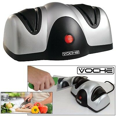 Voche® Professional Electric Knife & Scissor Sharpener Honer 2 Stage Sharpening