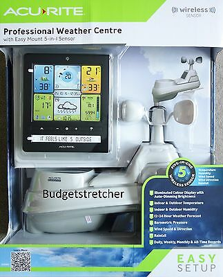 Acu Rite Professional weather center with 5 in 1 sensor Illuminated Colour Disp