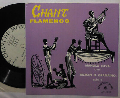 "Manolo Leiva & Roman El Granaino Chant Flamenco 7 "" Single (Tientos, El Polo)"