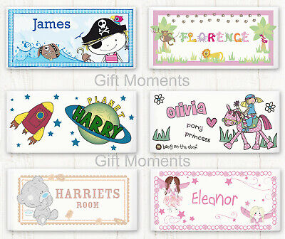 Personalised Childrens Bedroom Door Title Signs Boys & Girl Design Add Amy Name