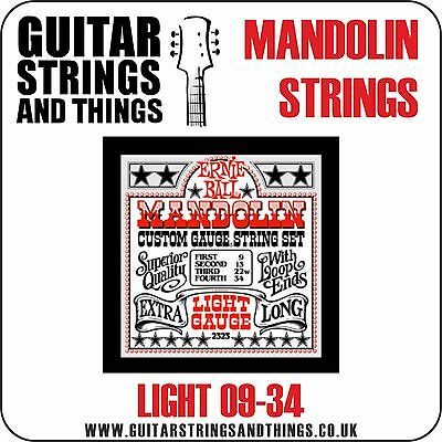 Ernie Ball 2323 MANDOLIN Strings 09-34 Stainless Steel Light Gauge