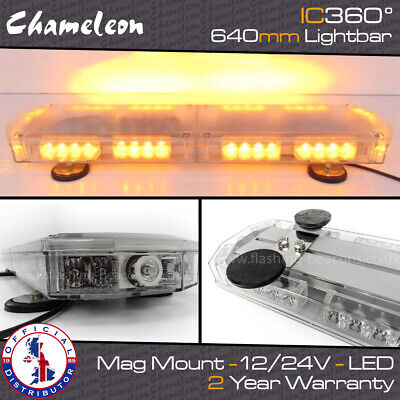 Gemini 600mm Mini Led Recovery Narrow Lightbar Beacon Magnetic Mount 70mph rated