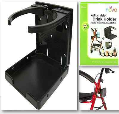Wheel Chair Deluxe Cup Holder Walker Bed Rails Transport Mobility Ride Rest Kit
