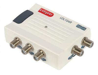 Labgear LDL104R 4 Way Compact Sky Sat Amplifier Splitter - Bypass - RF Powered