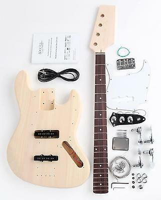 Diy Electric Bass Guitar Kit Self Build Your Own Guitar Pack Do It Yourself Set
