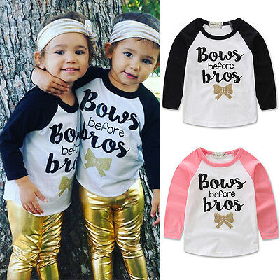 Fashion Toddler Kids Boys Letters Print Long Sleeve Cotton Casual Tops T-shirt