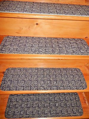 """13 = Step Indoor  Stair Treads Staircase  9"""" x 30"""" Carpet  soft backing"""