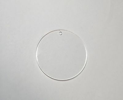"Acrylic 2.5"" Circle Keychain Blanks Pack 25-50-100 Hardware Included"