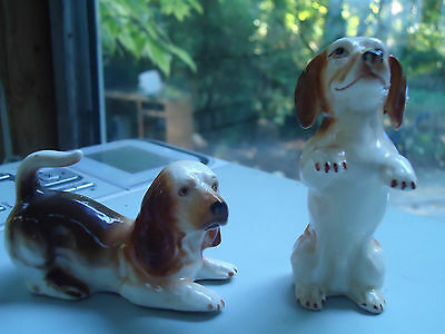 Lot of 2 Dachshund Collectible Dog Figurines, Bone China Taiwan