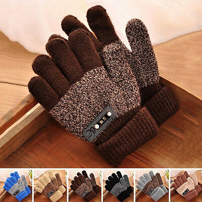 Fashion Kids Winter Gloves Boys Warm Knitted Mittens Full Finger Magic Glove