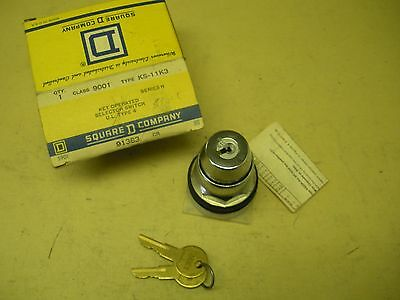 Square D Key Operated Selector Switch 9001 KS-11K3