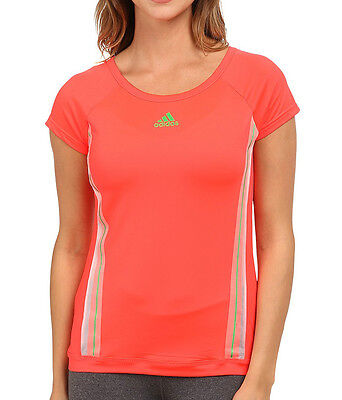 New Adidas Kinesics Fitness Top T-Shirt Pink Ladies Womens Gym Running