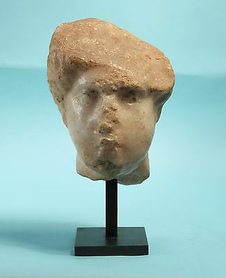 Roman Marble Head of a Woman - Ancient Art & Antiquities