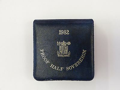 1982 Proof Half Sovereign 22 Carat Gold Coin  Royal Mint