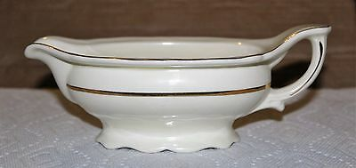 Vintage Edwin M Knowles Gold Band Gravy Server Boat 37-5