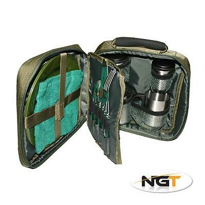 NGT Carp Fishing Bivvy Deluxe 2 Person Camping Cutlery Set (109)