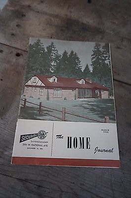 Vintage 1953 The Home Journal ~ Security Savings & Loan ~ Milwaukee