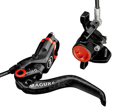 NEW Magura MT8 Carbotecture Carbon Disc Brakes/Levers Set of 2 Front/Rear Brake